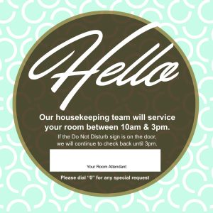 Welcome Card Design for Hampton Inn